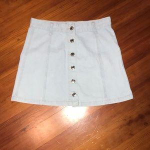 Jean Button Up Skirt
